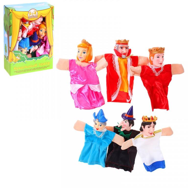 Кукольный театр - Спящая красавица, 6 куколДетский кукольный театр <br>Кукольный театр - Спящая красавица, 6 кукол<br>