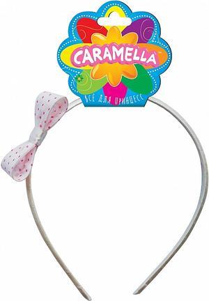 Ободок для волос с бантом в горошек, нежно-розовыйЗаколки<br>Ободок для волос с бантом в горошек, нежно-розовый<br>