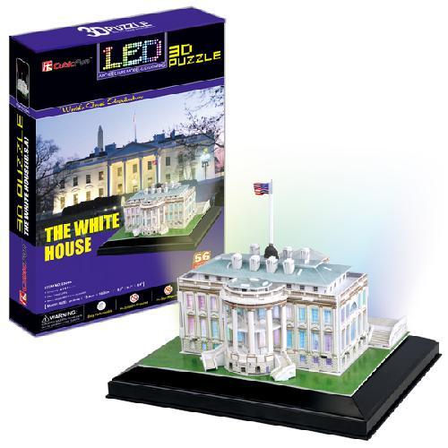 3D puzzles. Пазлы объёмные. Белый дом, с иллюминациейПазлы объёмные 3D<br>3D puzzles. Пазлы объёмные. Белый дом, с иллюминацией<br>