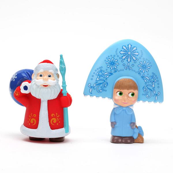 Набор для купания Маша-Снегурочка и Дед МорозИгрушки для ванной<br>Набор для купания Маша-Снегурочка и Дед Мороз<br>