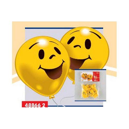 Набор из 10 шариков с рисунком – УлыбкаВоздушные шары<br>Набор из 10 шариков с рисунком – Улыбка<br>