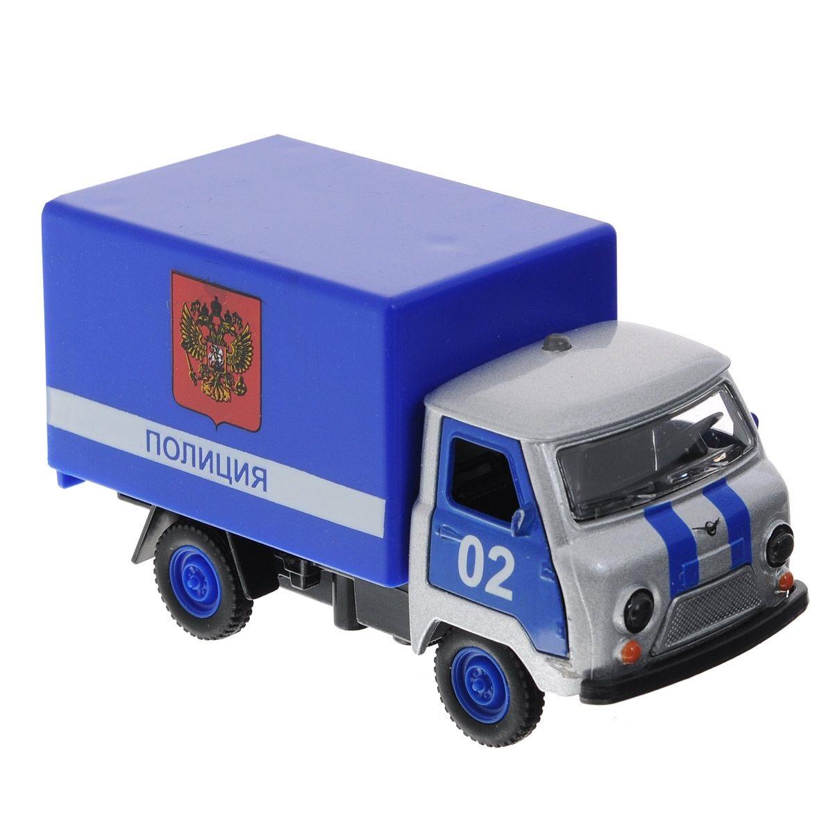 Инерционная машина металлическая УАЗ 3303 - Полиция, свет, звук 1:43Полицейские машины<br>Инерционная машина металлическая УАЗ 3303 - Полиция, свет, звук 1:43<br>