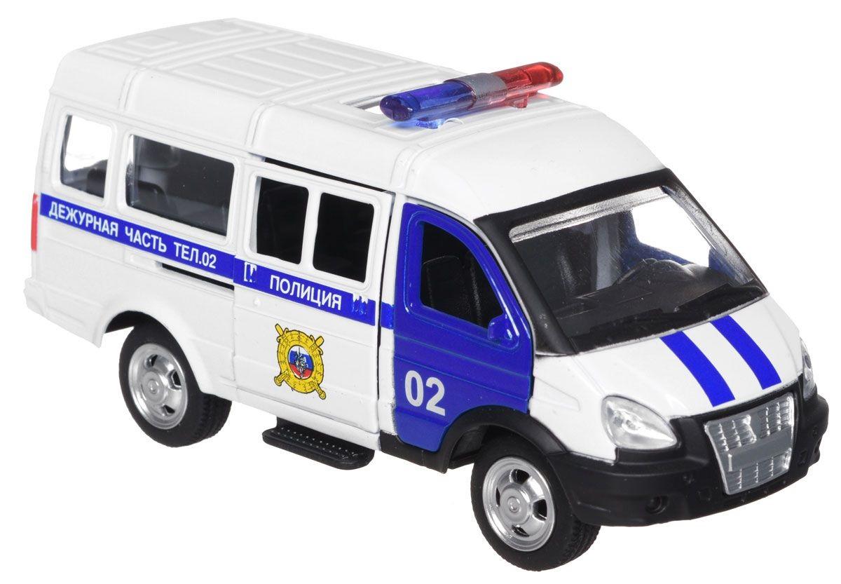 Полиция Газель - машина металлическая инерционная, Технопарк  - купить со скидкой