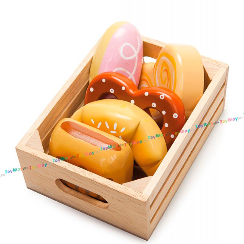 Еда игрушечная - выпечка в ящичкеАксессуары и техника для детской кухни<br>Еда игрушечная - выпечка в ящичке<br>