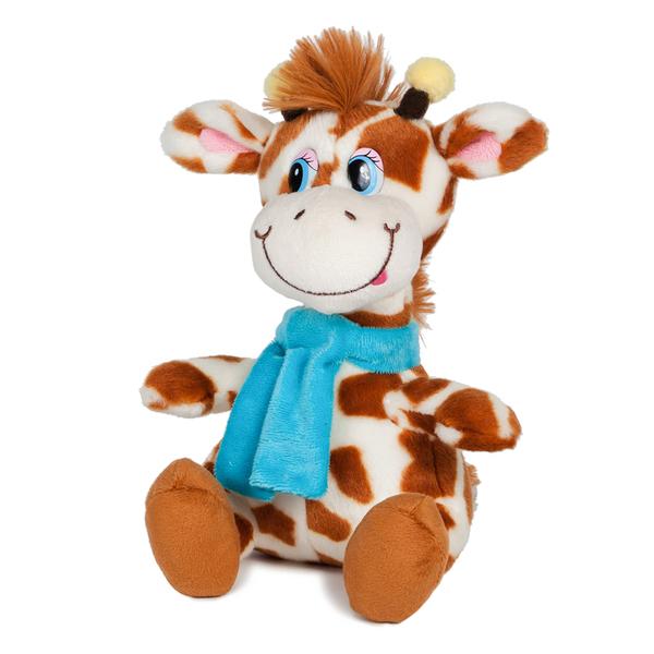 Мягкая игрушка – Жираф Димон в шарфике, 20 см, звук - Говорящие игрушки, артикул: 165932
