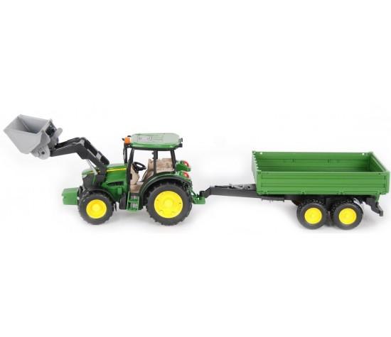 Трактор John Deere M5115 с погрузчиком и прицепомИгрушечные тракторы<br>Трактор John Deere M5115 с погрузчиком и прицепом<br>