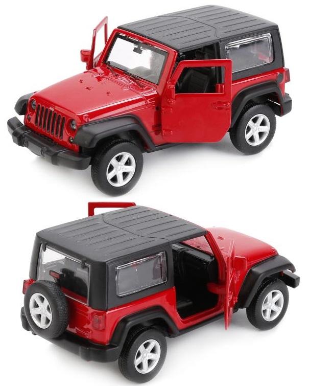 Металлическая инерционная машина - Jeep Wrangler, 1:43Jeep<br>Металлическая инерционная машина - Jeep Wrangler, 1:43<br>