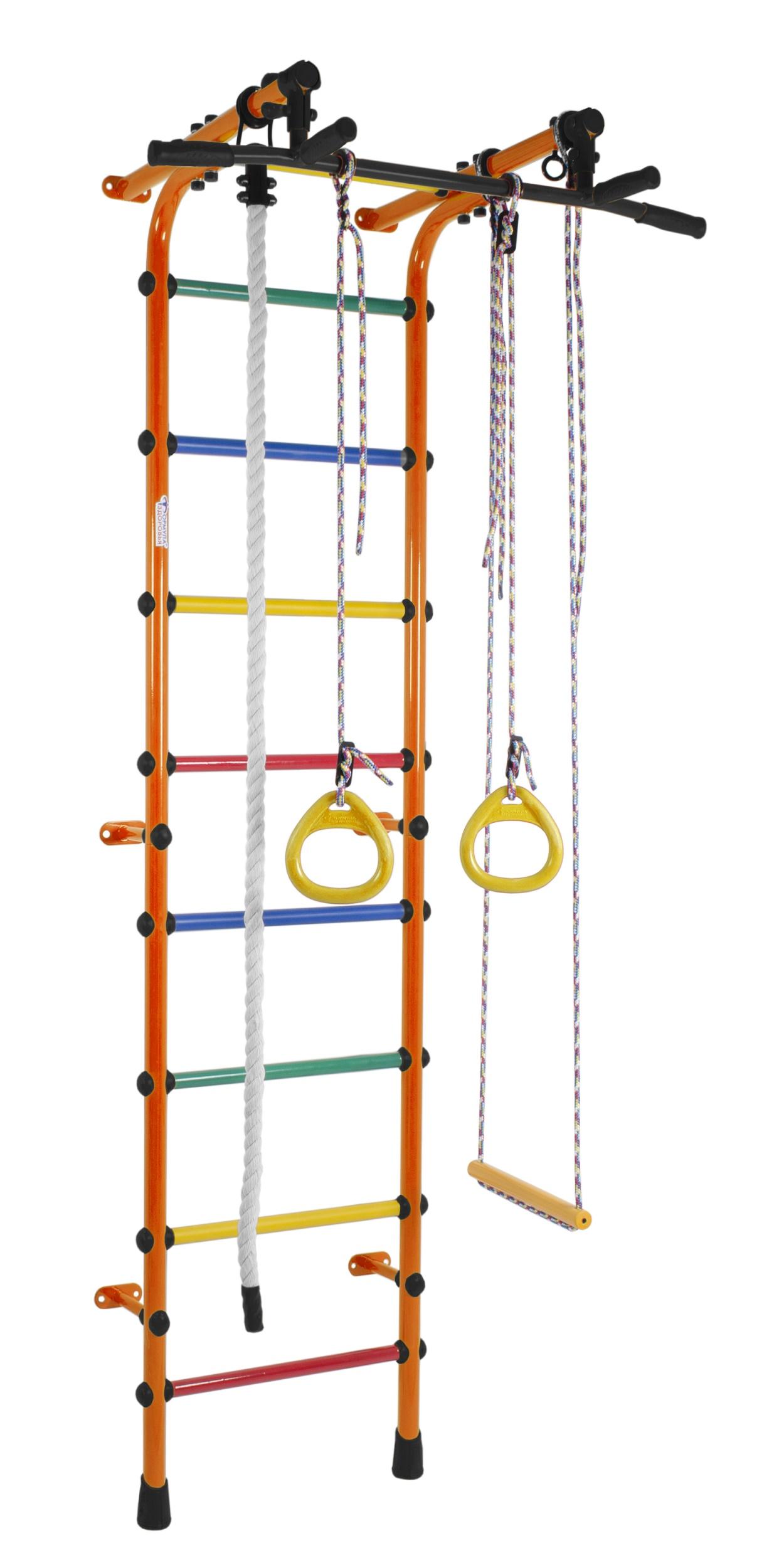 Купить Детский спортивный комплекс Непоседа, цвет - оранжевый/радуга, Формула здоровья