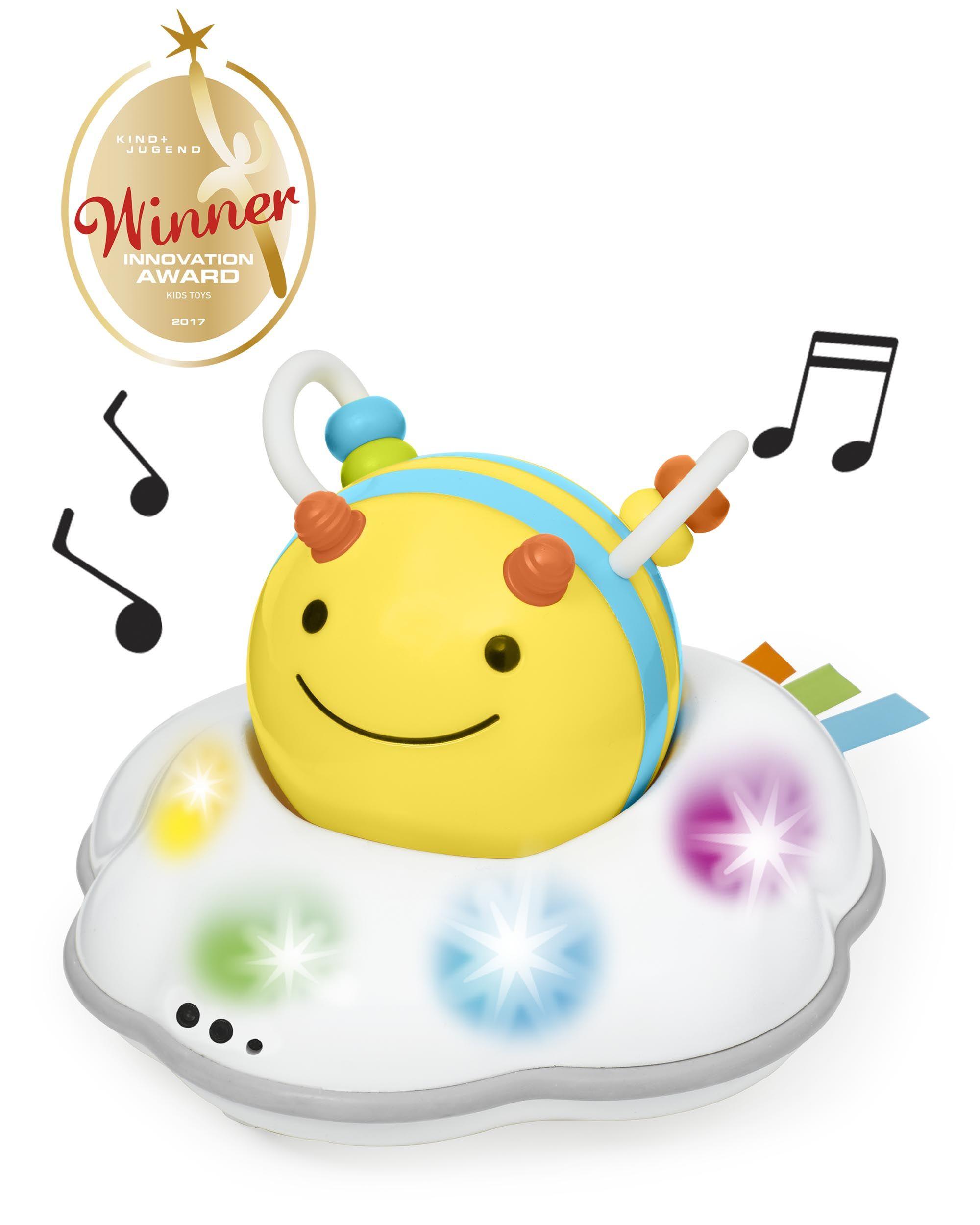 Купить Развивающая игрушка - Пчела на облачке, свет и звук, Skip Hop