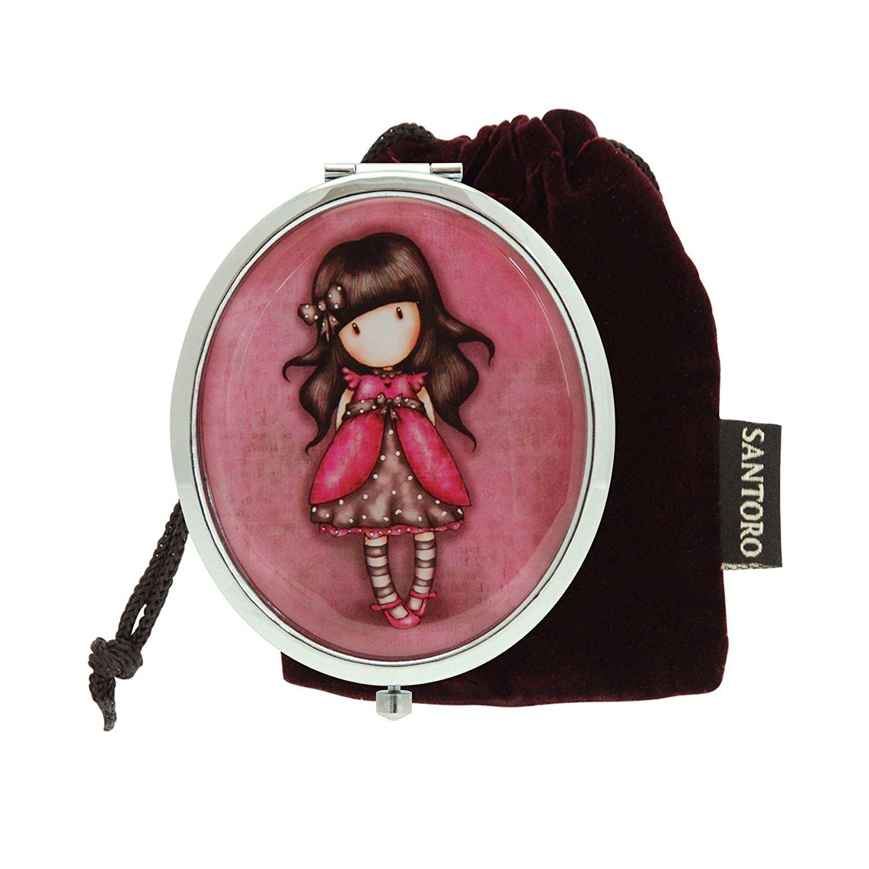 Овальное компактное зеркальце – LadybirdЮная модница, салон красоты<br>Овальное компактное зеркальце – Ladybird<br>