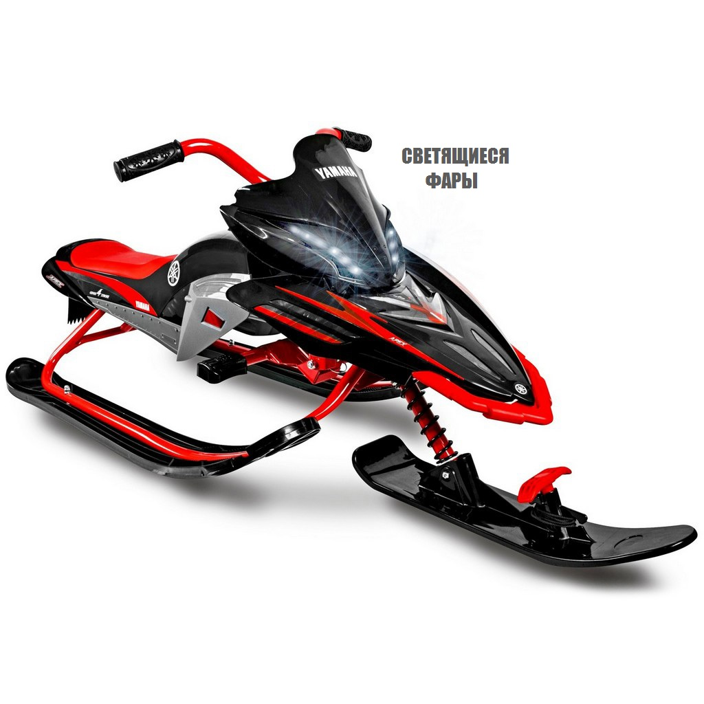 Снегокат Yamaha Apex Snow Bike YMC13001LX with LED со светящимися фарами, красный