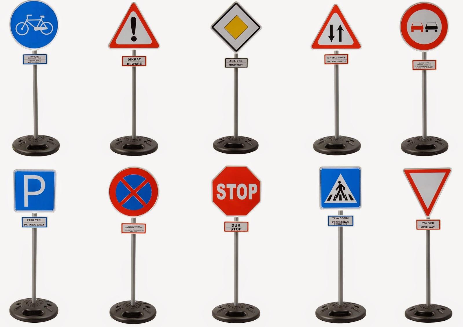 Дорожные знаки большие, 85см - Знаки дорожного движения, светофоры, артикул: 160595