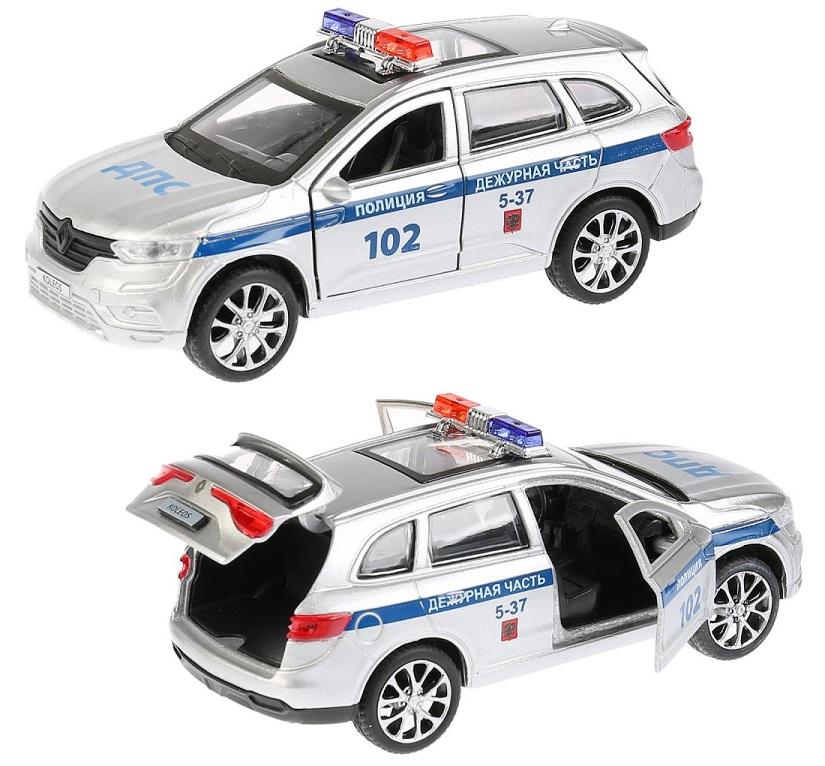 Купить Полицейская металлическая машина - Renault Koleos, длина 12 см, открываются двери, Технопарк