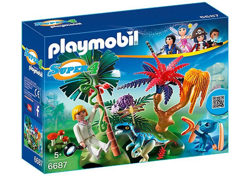 Игровой набор из серии Супер 4 - Затерянный остров с Алиен и ХищникомSuper 4<br>Игровой набор из серии Супер 4 - Затерянный остров с Алиен и Хищником<br>