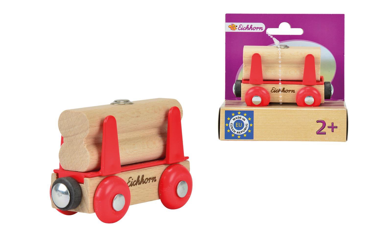 Игровой набор Вагон с бревнамиЖелезная дорога для малышей<br>Игровой набор Вагон с бревнами<br>