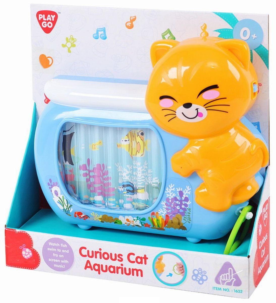 Развивающая игрушка - Аквариум с кошкойРазвивающие игрушки PlayGo<br>Развивающая игрушка - Аквариум с кошкой<br>