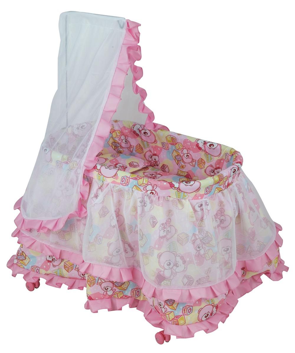 Кроватка для куклы, с балдахином - Детские кроватки для кукол, артикул: 7178