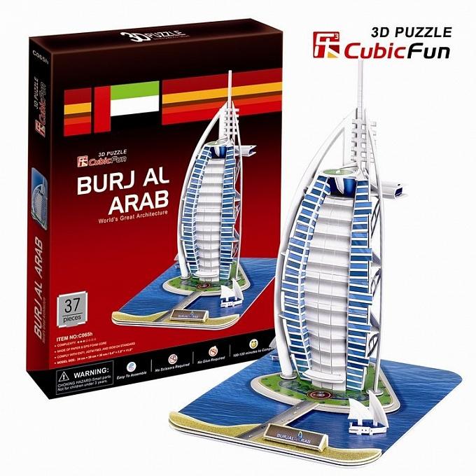 3D puzzles. Объёмный пазл Бурж эль Араб, ДубаиПазлы объёмные 3D<br>3D puzzles. Объёмный пазл Бурж эль Араб, Дубаи<br>