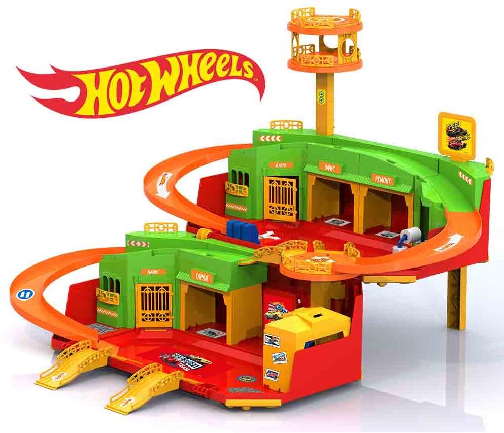 Набор Парковка  Хот Вилс с вертолетной площадкой - Детские парковки и гаражи, артикул: 174473