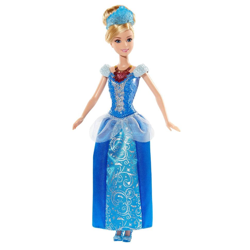 Кукла Золушка из серии Принцессы Дисней, колье и корона светятся, 28 см.Золушка<br>Кукла Золушка из серии Принцессы Дисней, колье и корона светятся, 28 см.<br>