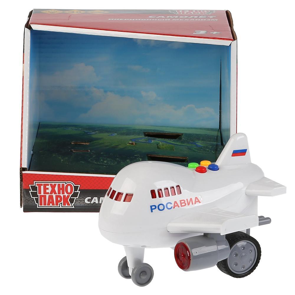 Купить Модель свет и звук Самолет, длина 14, 5 см., пластик, инерционная, Технопарк