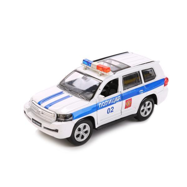 Металлическая инерционная машина - Toyota 13 см, со световыми эффектамиПолицейские машины<br>Металлическая инерционная машина - Toyota 13 см, со световыми эффектами<br>