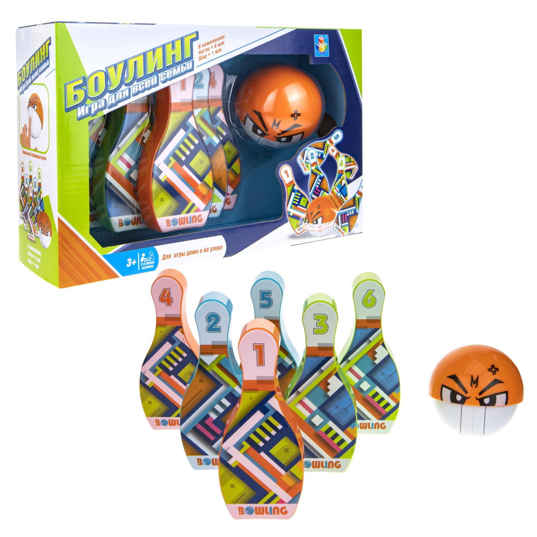 Игровой набор – Боулинг, 6 кеглей и шар фото