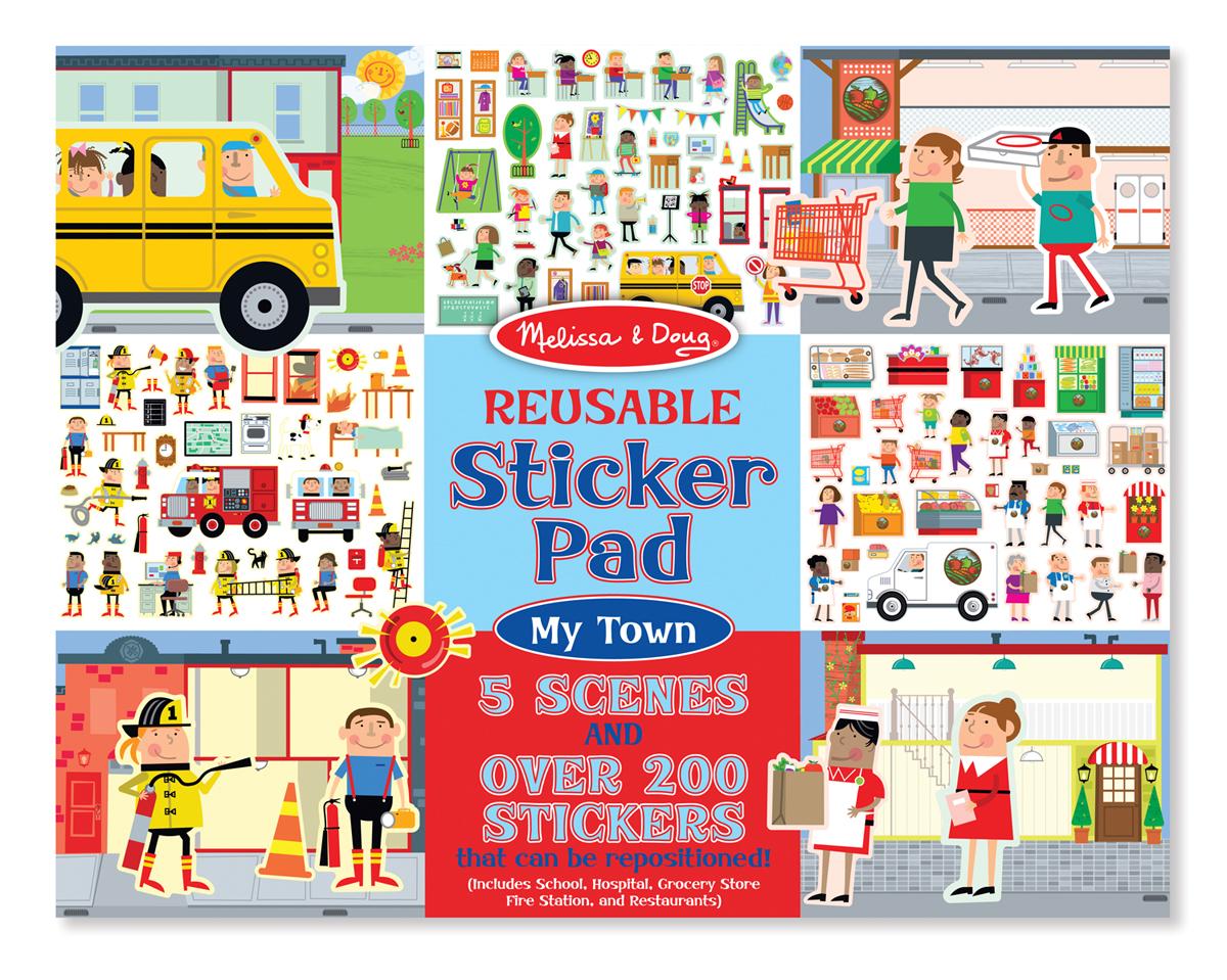 Купить Набор стикеров - Город из серии Творчество, Melissa&Doug