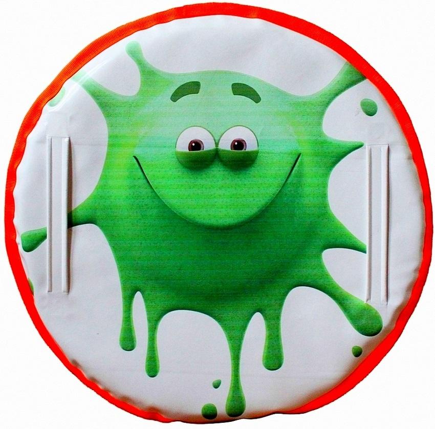 Ледянка Монстрик клякса, цвет зеленый, 60см. - Зимние товары, артикул: 148471
