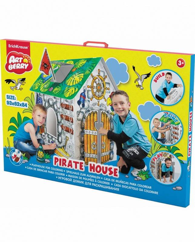 Домик игровой для раскрашивания - Дом Пирата/Pirate houseРазные поделки из бумаги<br>Домик игровой для раскрашивания - Дом Пирата/Pirate house<br>