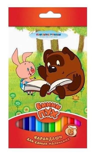 Цветные карандаши толстые «Винни-Пух» 12 цветовКарандаши<br>Цветные карандаши толстые «Винни-Пух» 12 цветов<br>