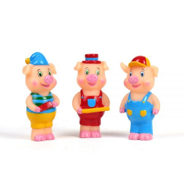 Набор из трёх игрушек для купания - Три поросёнкаИгрушки для ванной<br>Набор из трёх игрушек для купания - Три поросёнка<br>