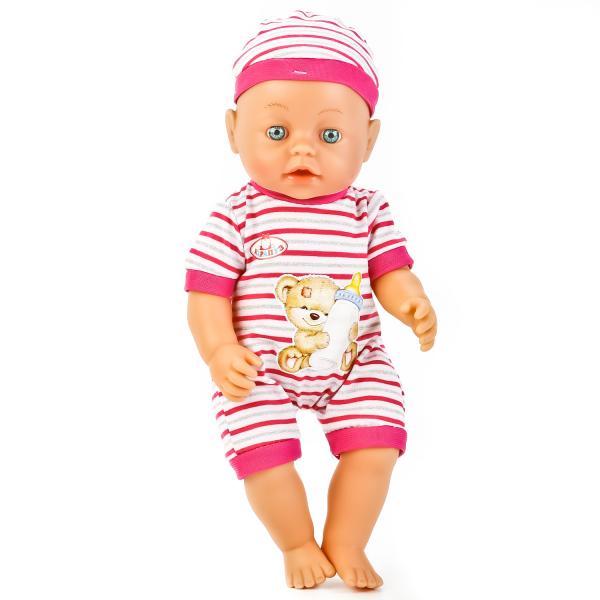 Купить Интерактивная кукла – Пупс Сашенька с коляской и аксессуарами, 35 см, пьет и писает, звук, Карапуз
