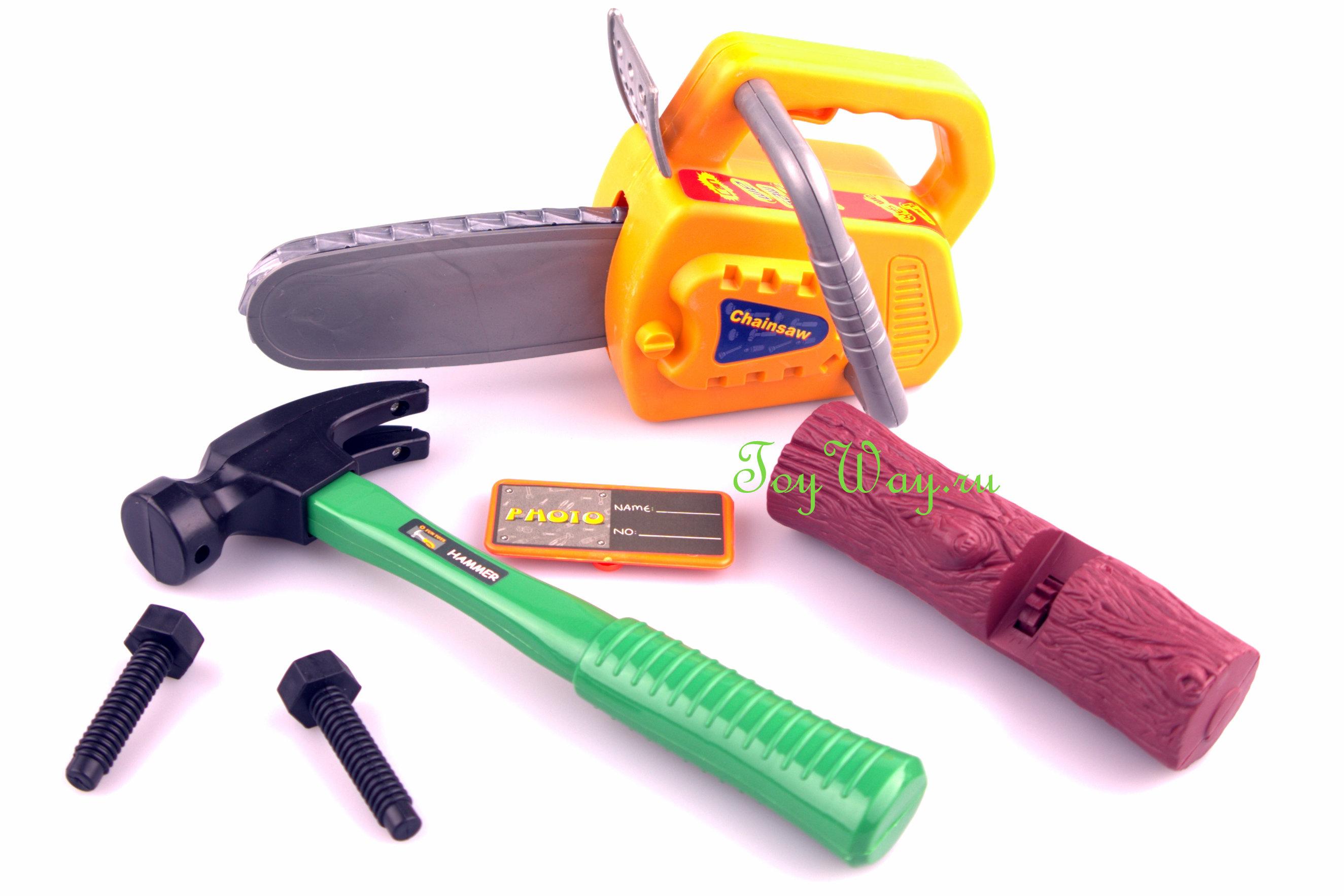 Игрушечный набор инструментов в чемодане, 8 предметовДетские мастерские, инструменты<br>Игрушечный набор инструментов в чемодане, 8 предметов<br>