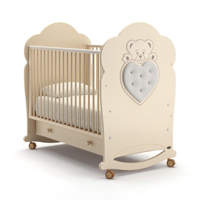 Детская кровать Nuovita Fortuna dondolo, avorio/слоновая кость фото