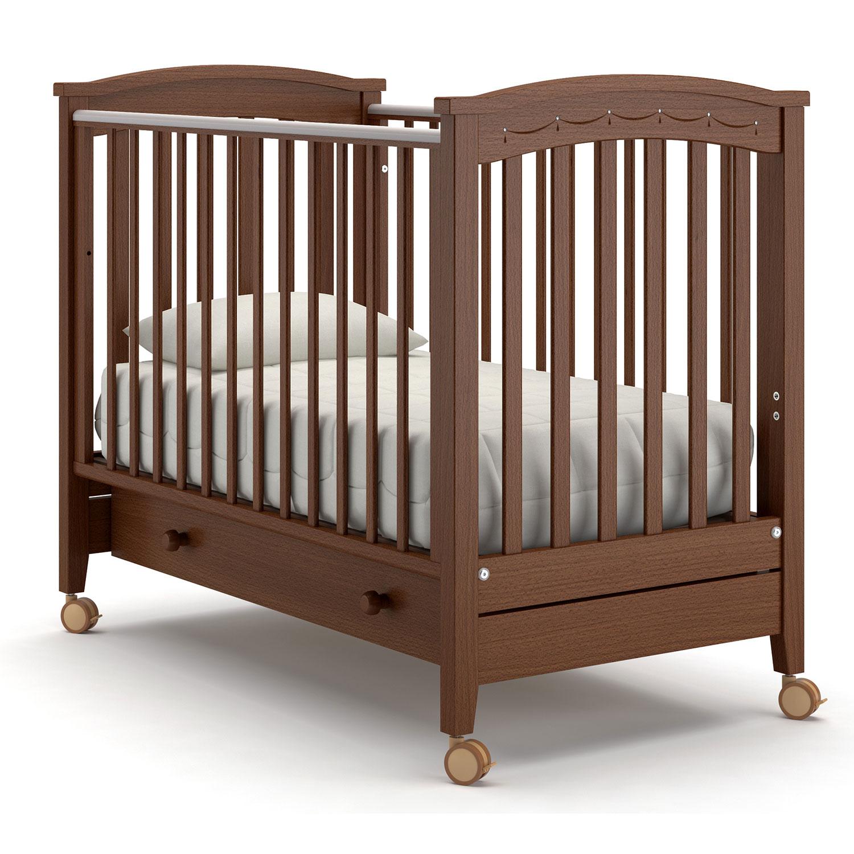 Купить Детская кровать Nuovita Perla solo, цвет - Noce scuro/Темный орех
