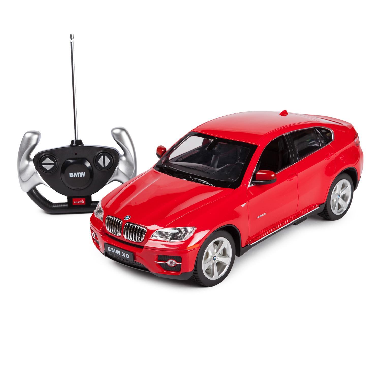 картинка Машина на р/у - BMW X6, красный, 1:14, свет от магазина Bebikam.ru