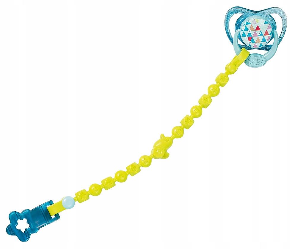 Игрушка Baby born - Соска с цепочкой, голубая