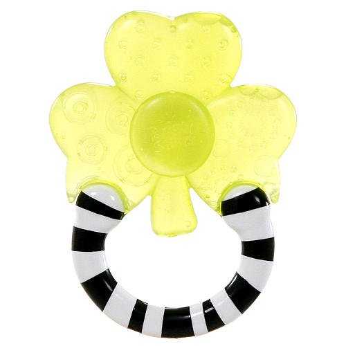 Мягкий прорезыватель для зубок «Полосатое колечко», ЦветокДетские погремушки и подвесные игрушки на кроватку<br>Яркий прорезыватель наполнен водой, покусывая его, кроха успокоит воспаленные десна.<br>