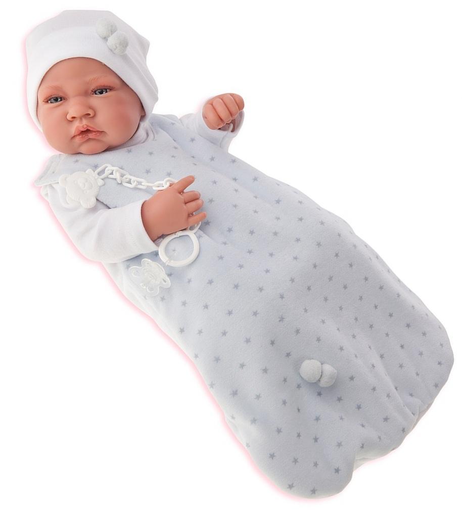 Кукла-младенец Кармело в голубом, 42 смКуклы Антонио Хуан (Antonio Juan Munecas)<br>Кукла-младенец Кармело в голубом, 42 см<br>