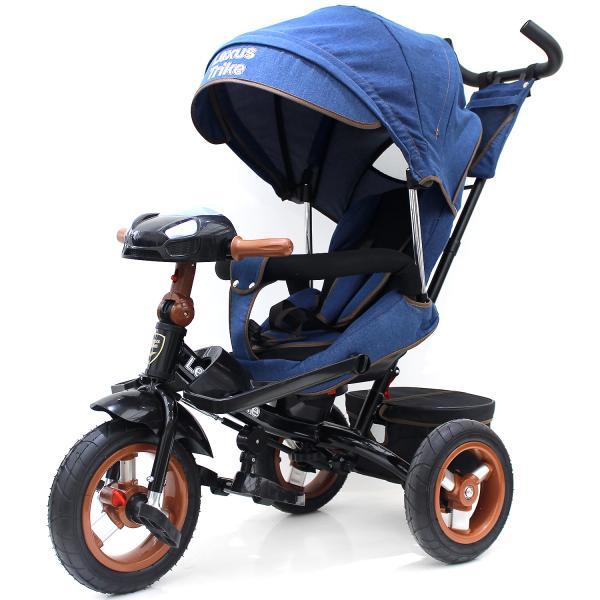 Купить Велосипед 3-х колесный - Lexus trike, джинс, надувные колеса диаметром 30 и 25 см, светомузыкальная панель, поворотное сиденье