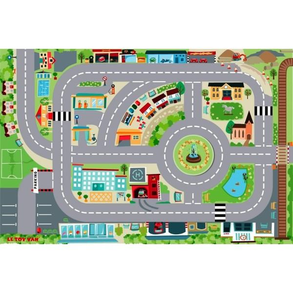 Игровой коврик «Город»Детские парковки и гаражи<br>Игровой коврик «Город»<br>