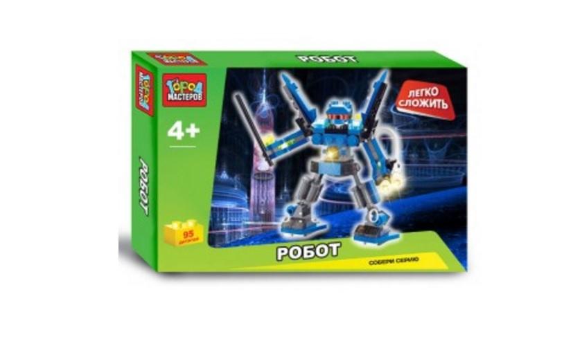 Конструктор - Робот, 108 деталейГород мастеров<br>Конструктор - Робот, 108 деталей<br>