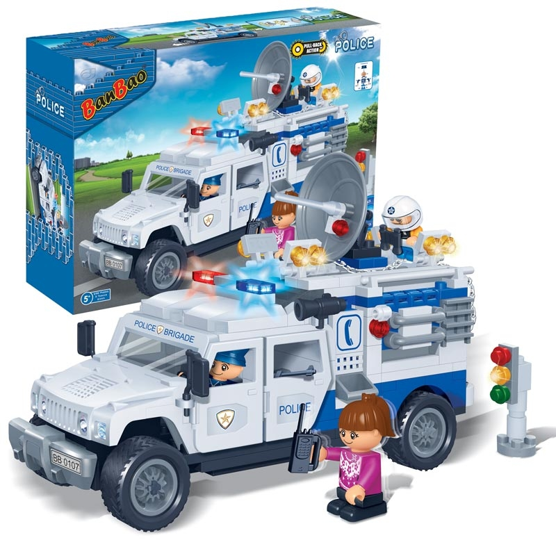 Конструктор  - Полицейский грузовик, 290 деталейКонструкторы BANBAO<br>Конструктор  - Полицейский грузовик, 290 деталей<br>