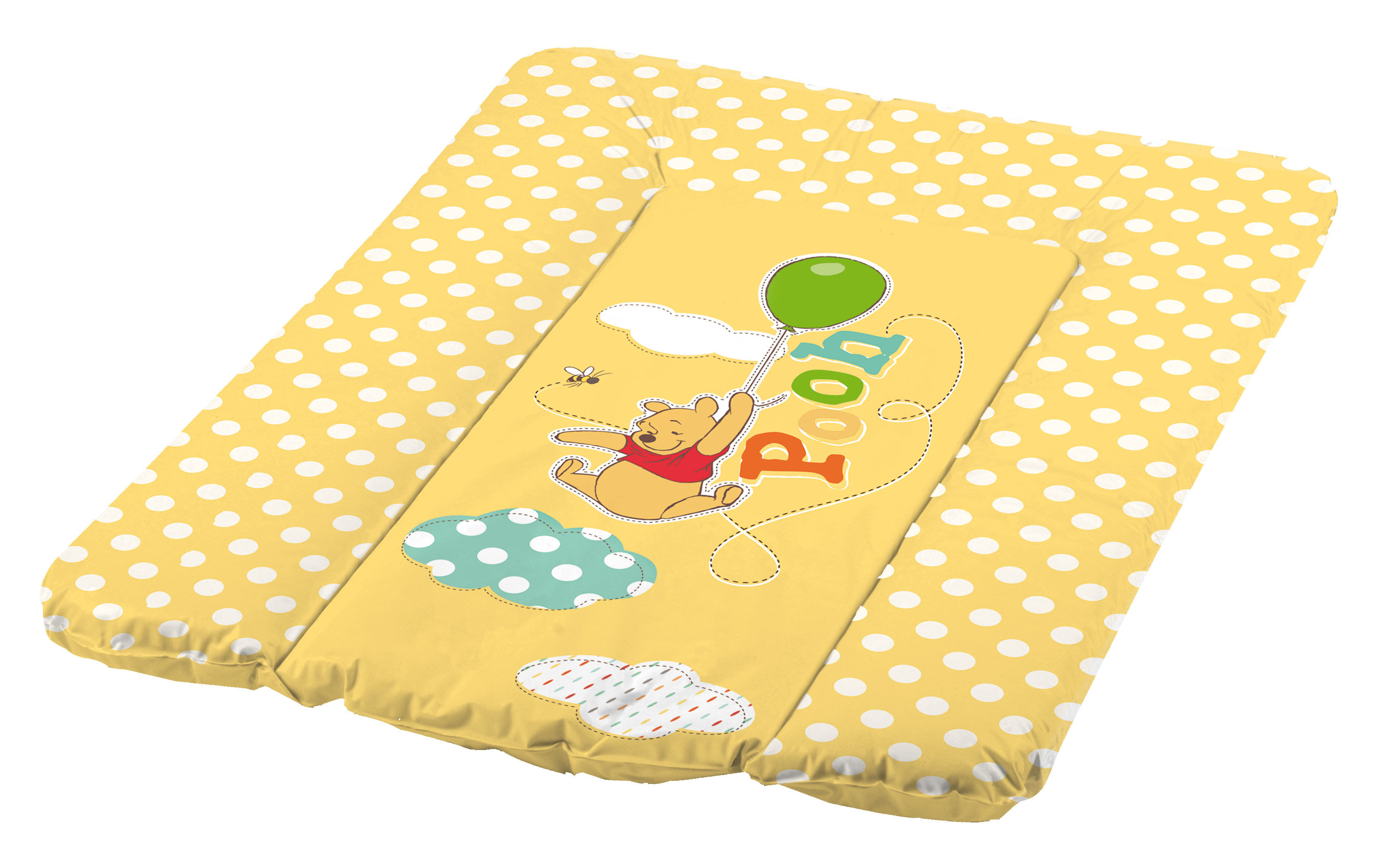 Пеленальный матрац с мягким основанием Винни Пух, желтый, 50х70 смстолы для пеленания<br>Пеленальный матрац с мягким основанием Винни Пух, желтый, 50х70 см<br>