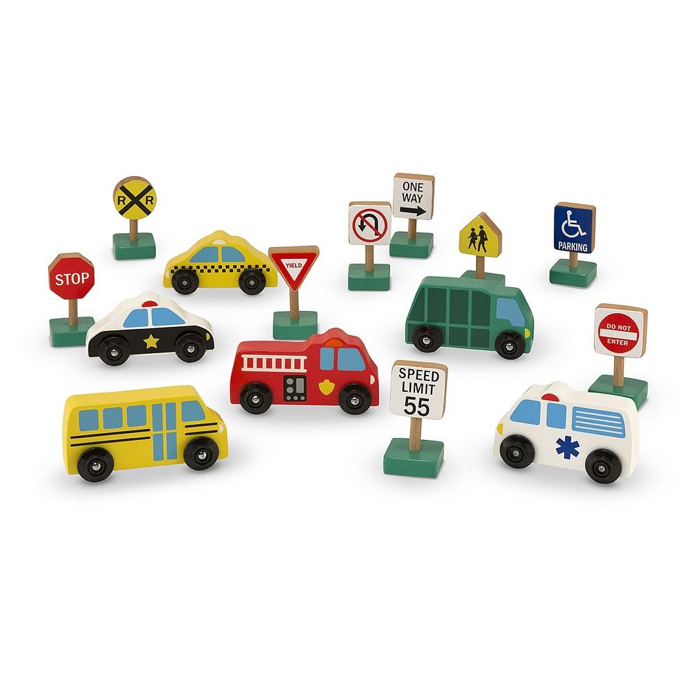 Игровой набор из серии Деревянные игрушки - Городской транспорт, 6 машинок по цене 2 420