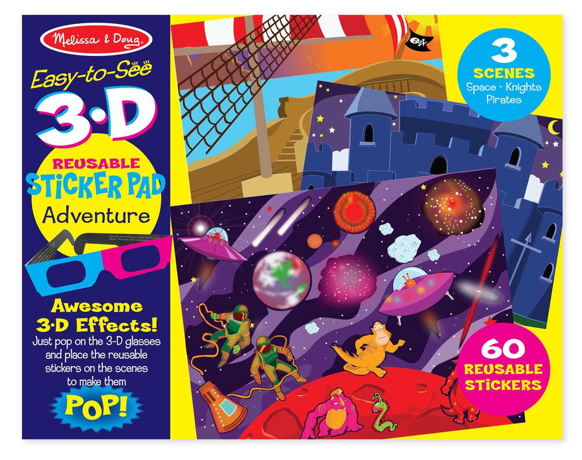 Набор 3D стикеров с фонами и очками «Приключения»Наклейки<br>Набор 3D стикеров с фонами и очками «Приключения»<br>