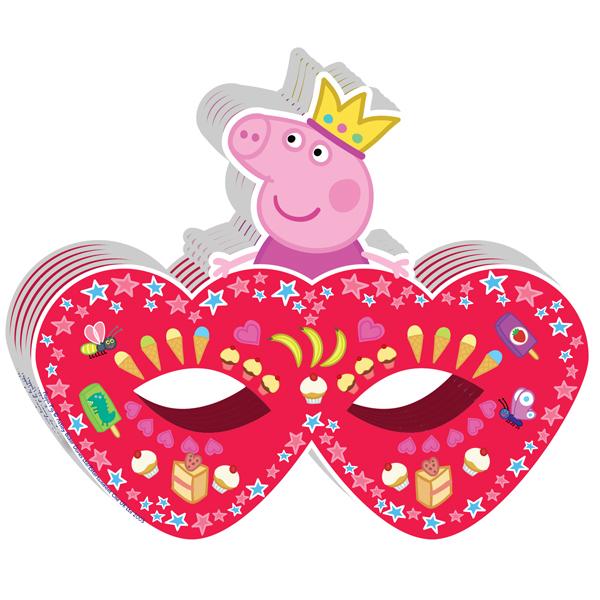 Маска фигурная 6 штук «Пеппа Принцеса»Свинка Пеппа (Peppa Pig )<br>Маска фигурная 6 штук «Пеппа Принцеса»<br>