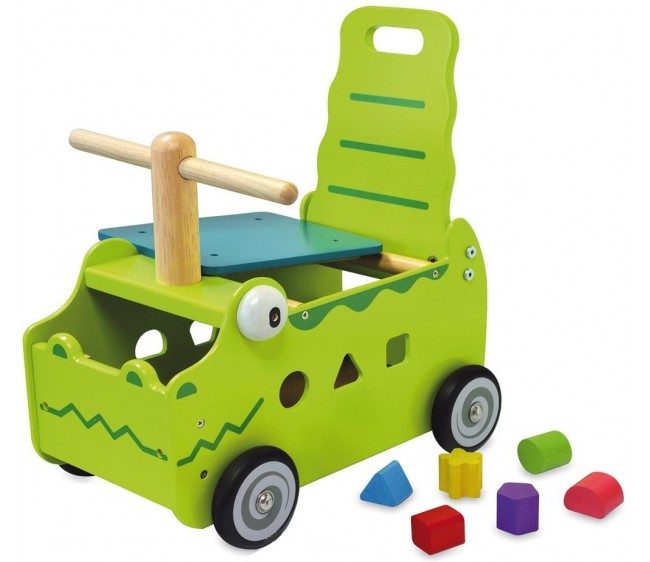 Сортер-каталка Крокодил с фигуркамиМашинки-каталки для детей<br>Сортер-каталка Крокодил с фигурками<br>