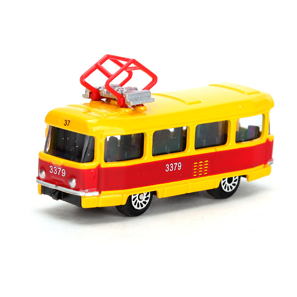 Трамвай металлический, 1:72, 7 см.Автобусы, трамваи<br>Трамвай металлический, 1:72, 7 см.<br>